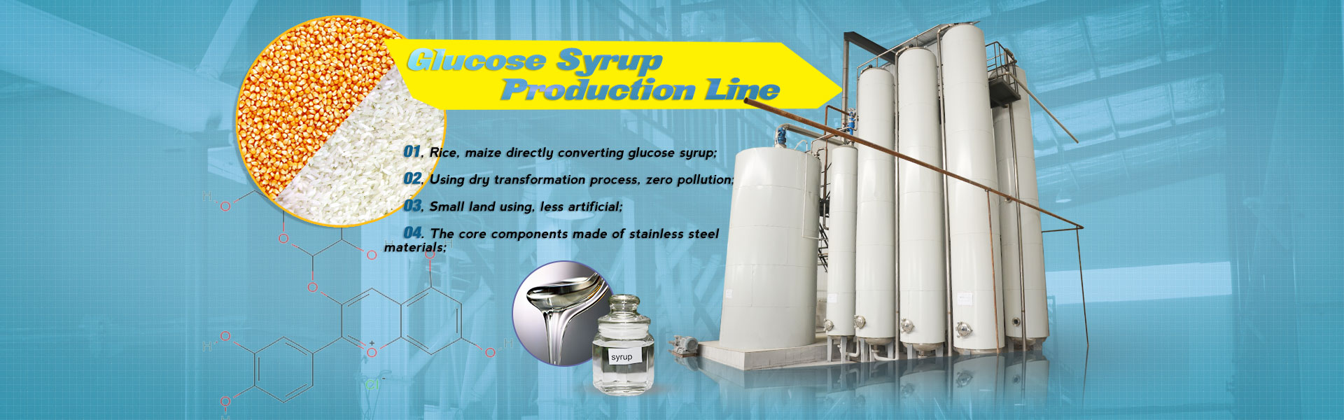 Syrup processing plant