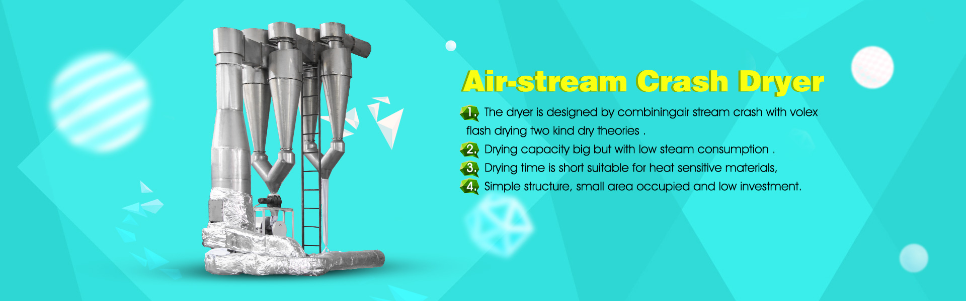 Air-stream crash dryer