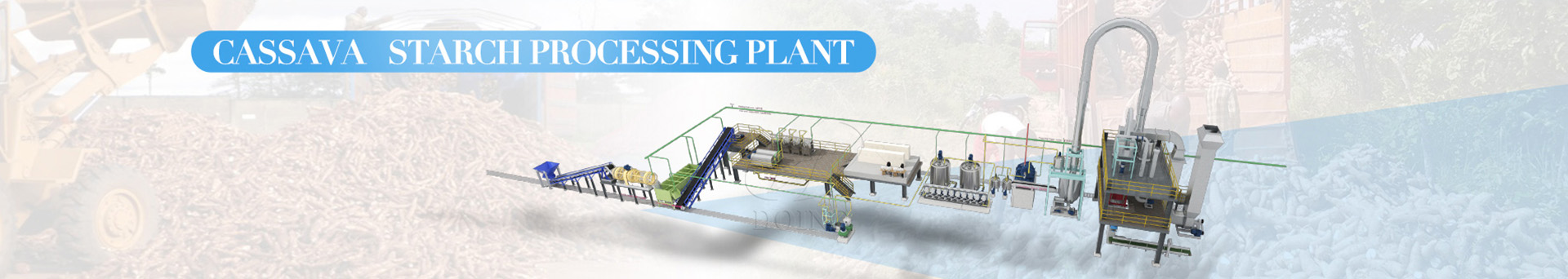 cassava starch processing machine