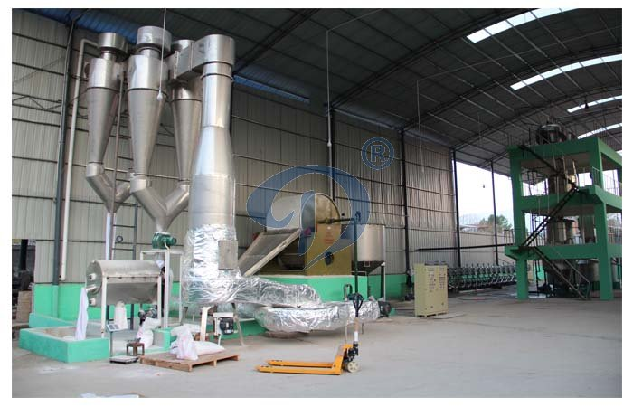 Potato starch drying machine