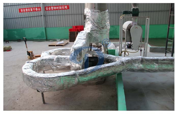 Cassava starch air-stream drying machines equipment