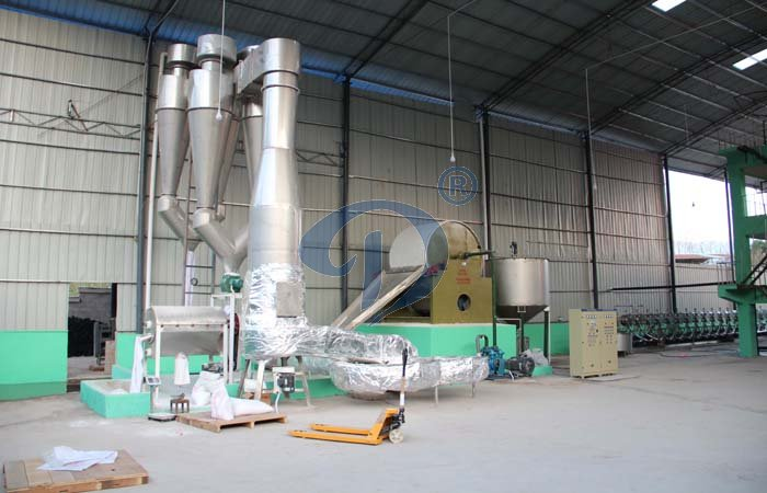 What is the potato starch drying machine working process ?