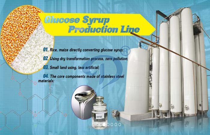 Corn syrup processing line