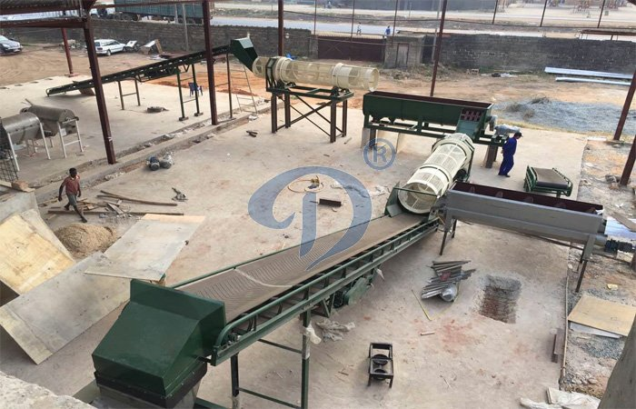80TPD cassava flour processing machine under installtion in Nigeria