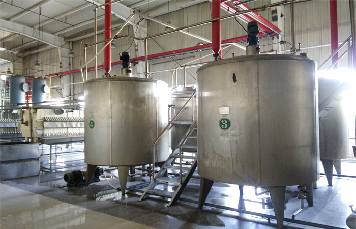 corn syrup processing plant