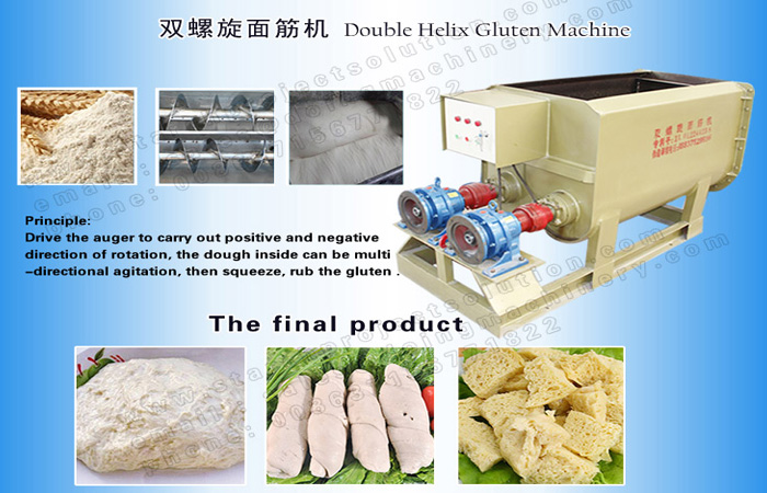 High quality double helix gluten washer