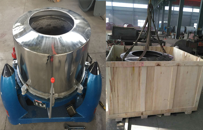 packing starch dewatering machine for India client