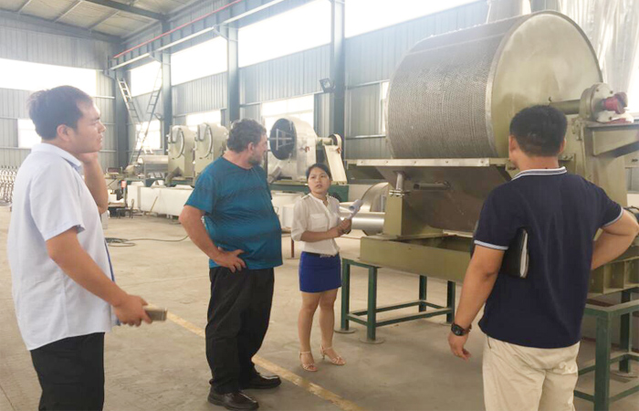 South Africa clients visit us for the potato starch manufacturing process machine