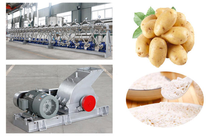 The potato starch machine plant installed in Inner Mongolia,China