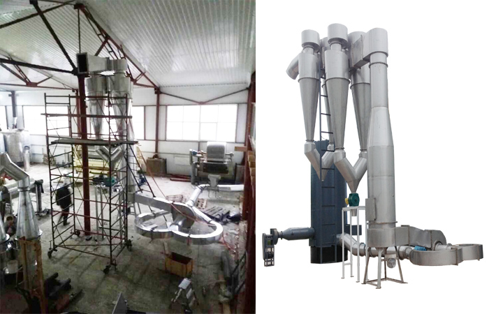 Potato starch dryer installation by Ukraine client