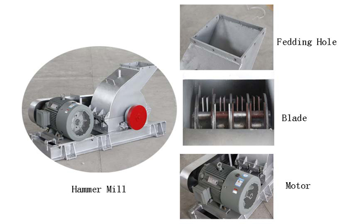 Hammer crusher for starch production