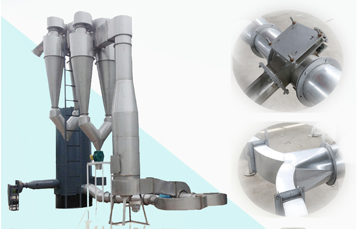 Cassava starch air-stream drying machine equipment