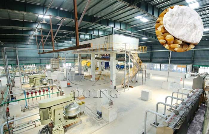 Corn starch manufacturing plant