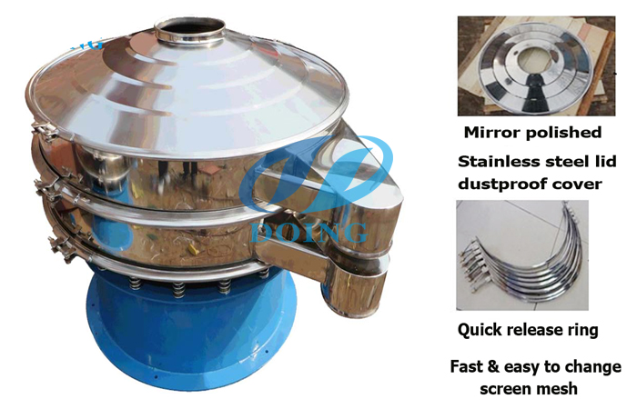 Vibration sieve for cassava flour production