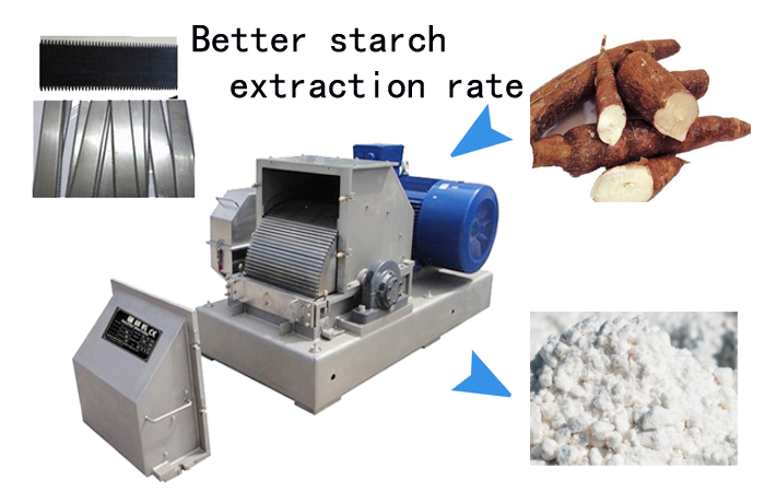 cassava rasping machine in cassava starch processing