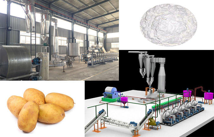 Potato starch processing plant machine