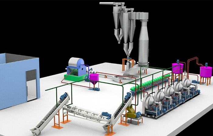 Tapioca starch processing equipment production line