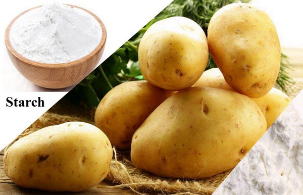 What is the step of starch extraction from potato?
