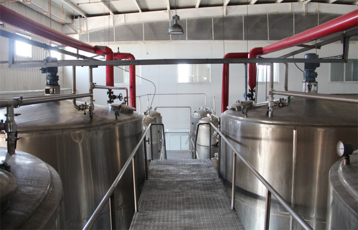 Corn glucose syrup production plant process