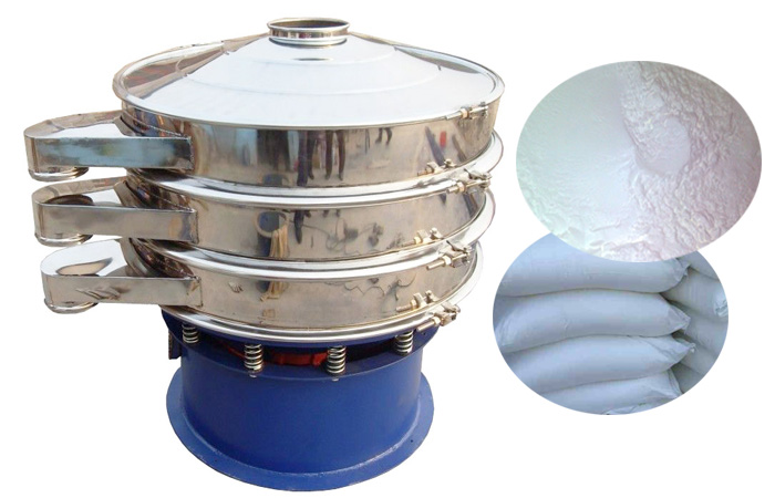 Vibration sieve working process
