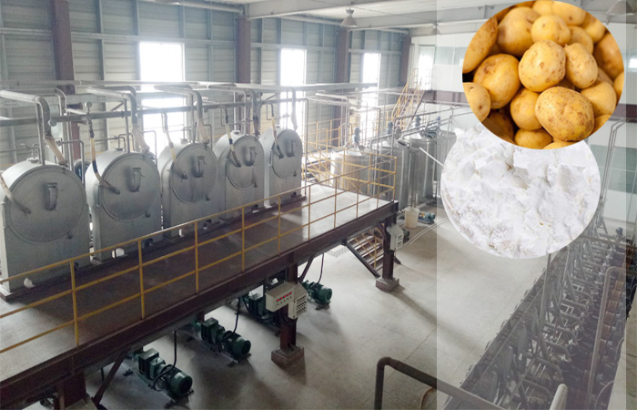 Machine used for preparation of starch from potato