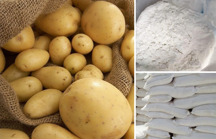 Potato starch making process