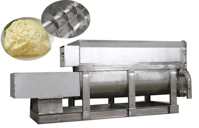 Double helix gluten making machine production process