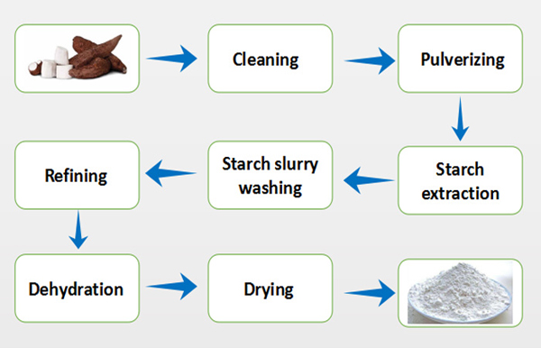 cassava starch extraction line