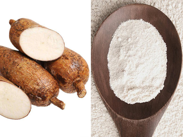cassava and cassava flour
