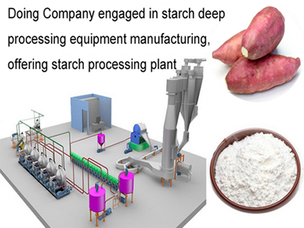 Isolation of starch from sweet potato process