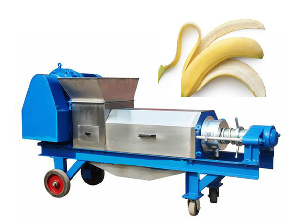 Fruit vegetable dewatering machine for banana peel dewatering