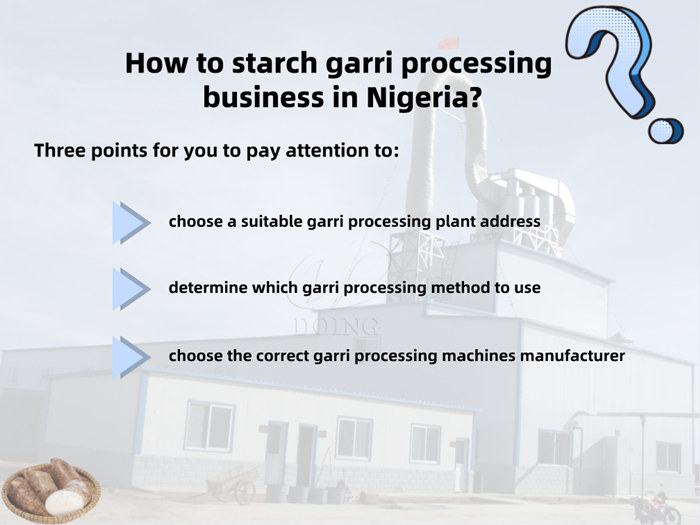 garri processing business in Nigeria