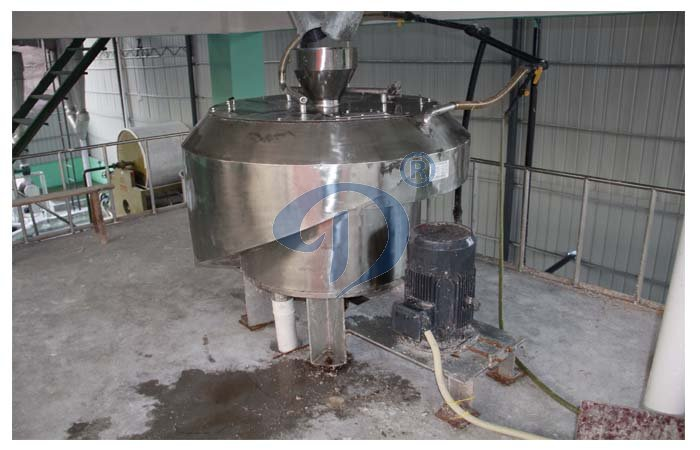 Starch centrifugal screen