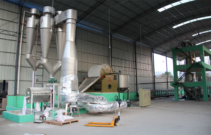 Starch dryer machine