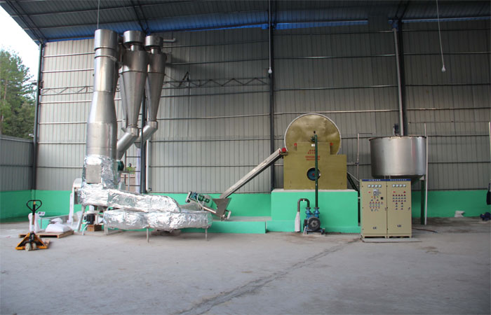 Air-stream crash dryer machine