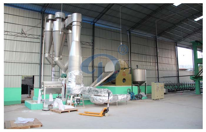Starch drying machinery