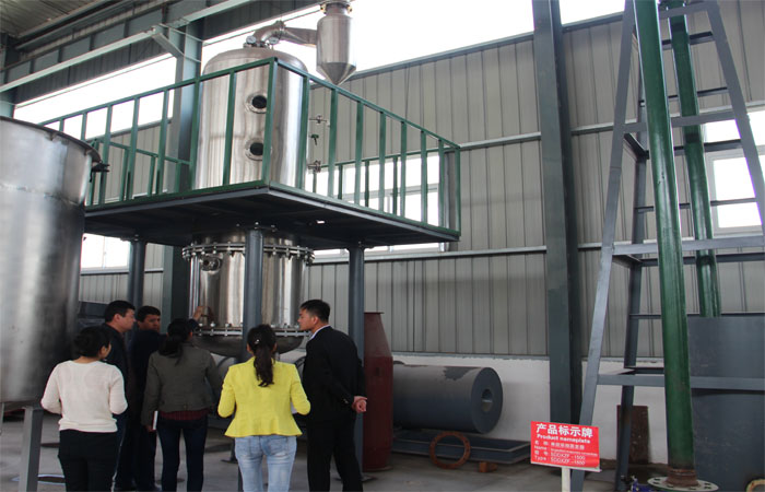Tajikistan customer visit our company for the corn glucose syrup plant