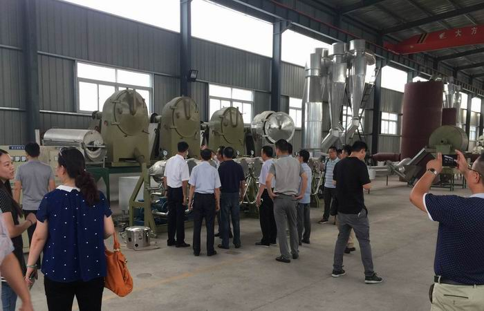 City leaders inspect our factory for starch production line on July 27th