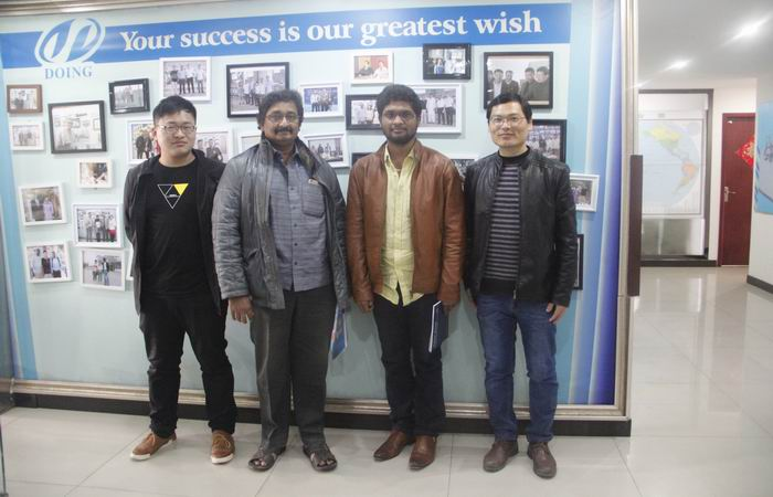India customer visit our company for cassava starch processing plant