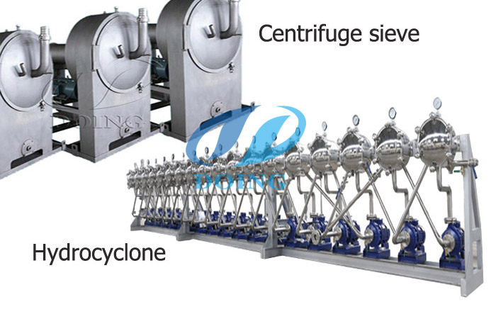 starch centrifuge sieve and hydrocyclone