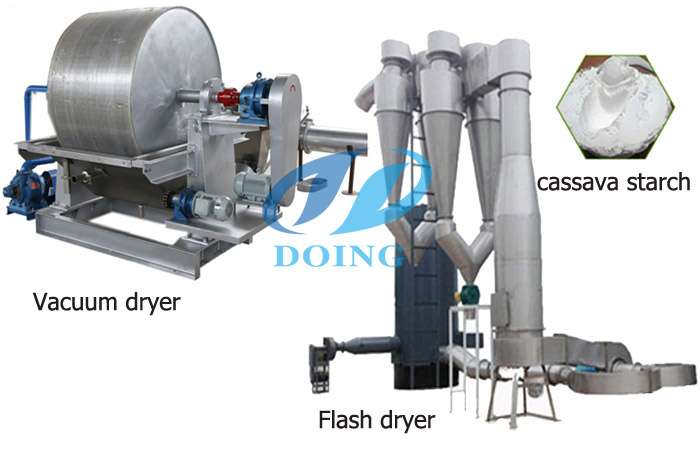 Cassava starch drying system
