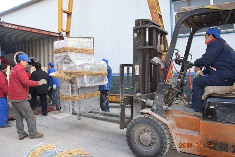 Potato starch drying machine delivery to Ukraine client