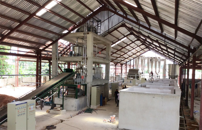 Cassava starch production plant installed in Cambodia