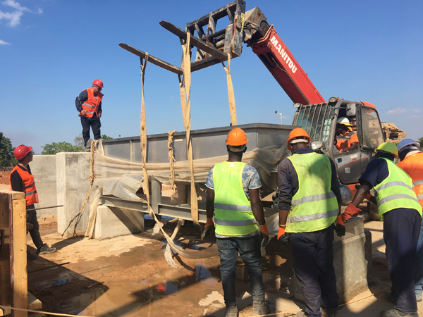 Cassava flour processing plant project installation in Tanzania
