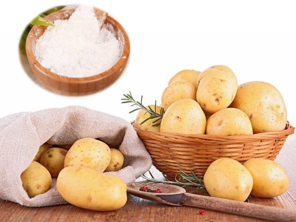 What is the process of production of starch from potato ?