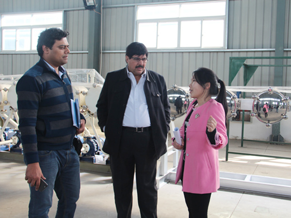 Pakistan customers visit DOING cassava starch equipment