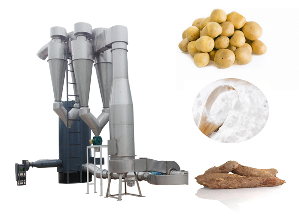 Potato starch dryer