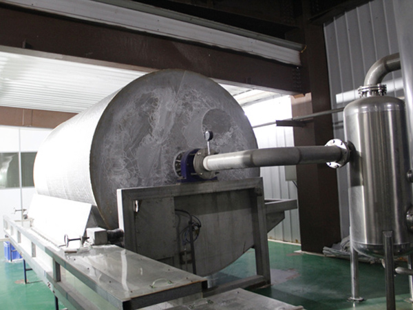 Starch dewatering machine for potato starch processing