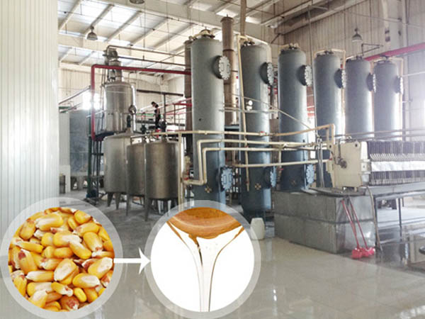 Use corn directly making glucose syrup production equipment