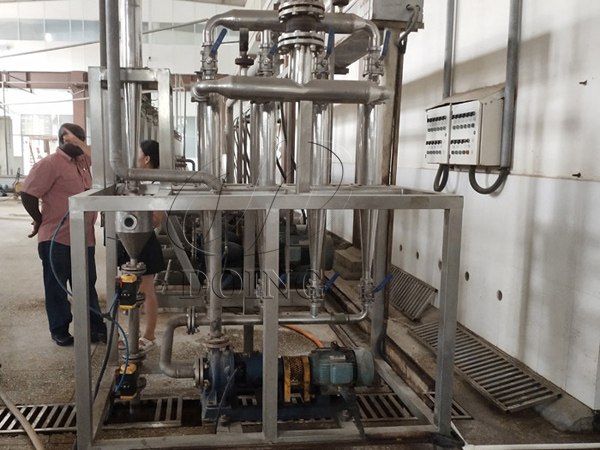 Customer from Ghana visit DOING for cassava starch processing machine